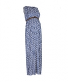 Mothercare - Mothercare - Blooming Marvellous Blue Printed Maternity Maxi Dress with Belt