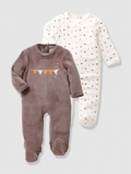 Vertbaudet - Baby's Pack of 2 Unisex Sleepsuits