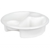 John Lewis - John Lewis The Basics Top and Tail Baby Wash Bowl, White