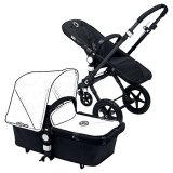 John Lewis - Bugaboo Cameleon3 Pushchair Base Unit and Carrycot, Black