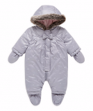 Mothercare - Baby Girls Bow Snowsuit