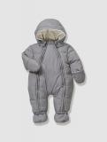 Vertbaudet - Newborn Convertible Snowsuit, Full Length Zip
