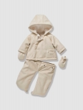 Vertbaudet - Newborn 3-in-1 Faux Sheepskin Convertible Snowsuit