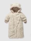 Vertbaudet - Newborn Faux Fur Convertible Snowsuit