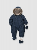 Vertbaudet - Baby's Padded & Lined Snowsuit