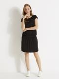 Vertbaudet - Black Smocked Adaptable Maternity & Nursing Dress