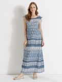 Vertbaudet - Blue Long Printed Maternity Maxi Dress