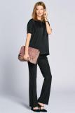 Black Maternity Short Sleeve Embellished Top