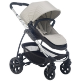 John Lewis - iCandy Strawberry 2 Pushchair with Chrome Chassis, Carrycot & Dune Hood