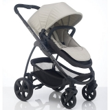 John Lewis - iCandy Strawberry 2 Pushchair with Black Chassis, Carrycot & Dune Fabrics