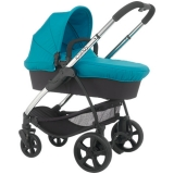 John Lewis - iCandy Strawberry 2 Pushchair with Chrome Chassis, Carrycot & Pacific Hood
