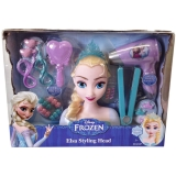 Amazon - Elsa Styling Head 21 pieces Real Working Hairdryer