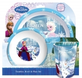 Amazon - Disney Frozen Set With Dinner Plate, Cup and Bowl