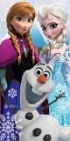 Amazon - Disney Frozen Towel Olaf Elsa Anna Cotton Beach Bath Towel