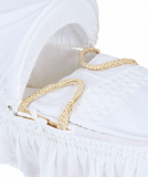 Mothercare White Moses Basket With Coverlet