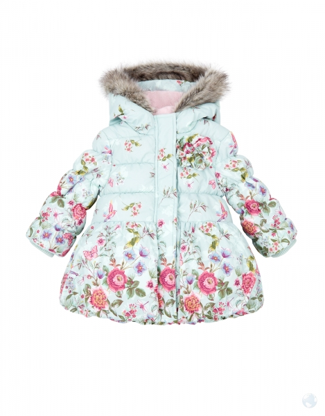 BABY EVIE PINK ROSES COAT parentideal.co.uk