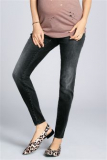 Washed Black Maternity Contemporary Stud Jeans