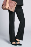 Black Maternity Boot Cut Over The Bump Trousers