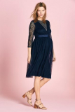 Next Navy Maternity Occasion Lace Mix Dress - Next Navy Maternity Occasion Lace Mix Dress