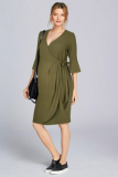Next Khaki Maternity Wrap Dress - Next Khaki Maternity Wrap Dress