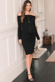 Next Black Maternity Bardot Dress - Next Black Maternity Bardot Dress
