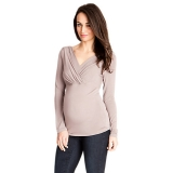 John Lewis - Séraphine Adele Layered V-Neck Maternity Top