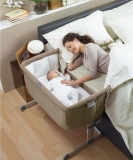 Mothercare Chicco Next 2 Me Bedside Crib - Mothercare Chicco Next 2 Me Bedside Crib in Dove Grey
