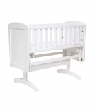 Mothercare Deluxe Gliding Crib - Mothercare Deluxe Gliding Crib in White