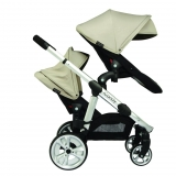 Mothercare - Mothercare - iCandy Apple 2 Pear Double Pushchair - Cookie