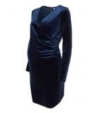 Mothercare - Mothercare - Mamalicious Maternity Blue Velvet Nursing Dress