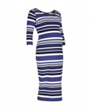 Mothercare - Mothercare - Blooming Marvellous Striped Midi Maternity Dress