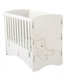 Mothercare - Mothercare - Kidsaw Teddy Bear Cot in White