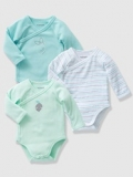 Vertbaudet - Baby's Pack of 3 Long-Sleeved Bodysuits