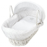 John Lewis - John Lewis Make A Wish Moses Basket, White
