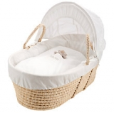 John Lewis - John Lewis Sweet Dreams Moses Basket, White