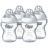 John Lewis - Tommee Tippee Feeding Bottles, Pack of 4, 260ml