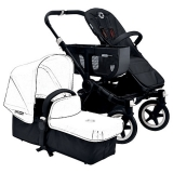 John Lewis - Bugaboo Donkey Base Pushchair Chassis and Carrycot, Black