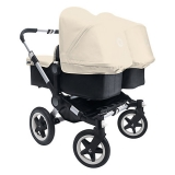 John Lewis - Bugaboo Donkey Pushchair Base and Carrycot 1.1, Black
