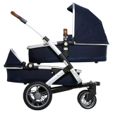 John Lewis - Joolz Geo Twin Pushchair with Carrycot, Parrot Blue