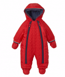 Mothercare - Boys Red Quilted Chenille Lined Snowsuit