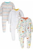 Mothercare - Mothercare Unisex Jungle Sleepsuits